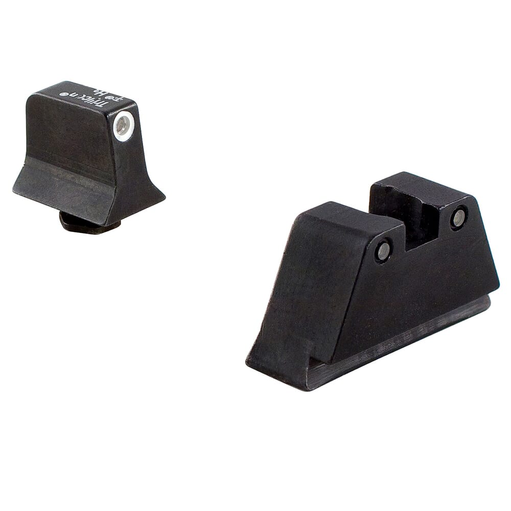 Trijicon Bright & Tough Night Sight Suppressor Set White Front/Black Rear with Green Lamps for Glock Models 17, 17L, 19, 22-28, 31-35 and 37-39 GL201-C-600658 600658