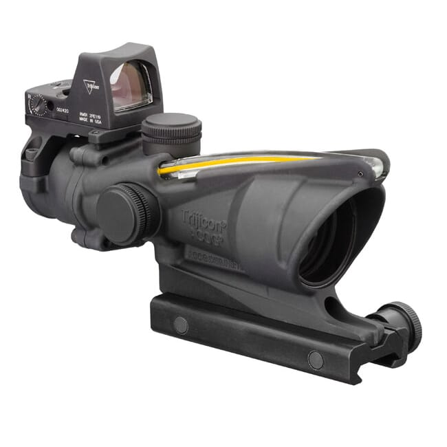 Trijicon 4x32 ACOG Dual Illum Amber Crosshair .223 Reticle w/Colt Knob Mount - LED 3.25 MOA Red Dot RMR Type 2 TA31-C-100551
