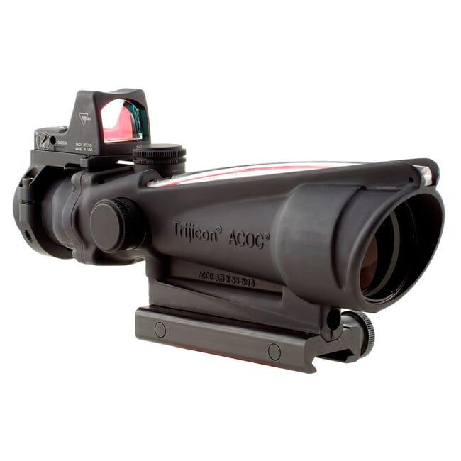Trijicon 3.5x35 ACOG Dual Illum Red Crosshair .223 Reticle w/Colt Knob Mount - LED 3.25 MOA Red Dot RMR Type 2 TA11-D-100557