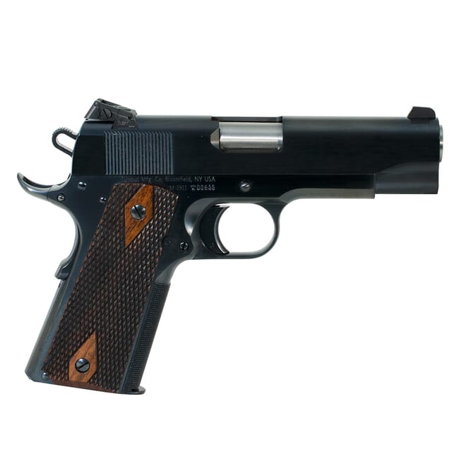 Turnbull 1911 Checker, BT, SS Bull Barrel, Kensight (Blue) Commander double diamond wood grips MPN TB-P3-C-B