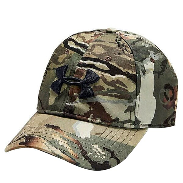 Under Armour Whitetail Men's Camo Stretch Fit Cap Updated UA Forest 2.0 Camo/Black 1318532-988