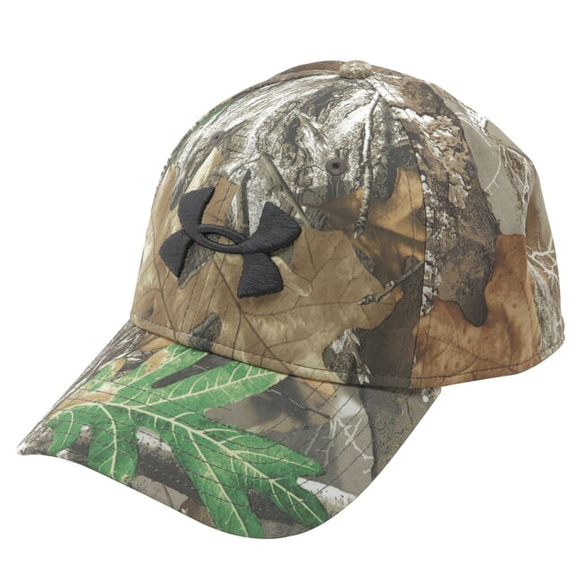 Under Armour Whitetail Men's Camo Stretch Fit Cap Updated Realtree Edge/Maverick Brown/Black 1318532-991
