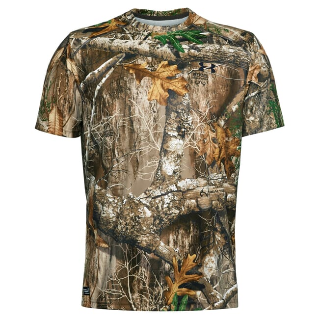 Under Armour Iso-Chill Brushline Short Sleeved T-Shirt UA Forest 2.0 Camo/Black 1351143-988