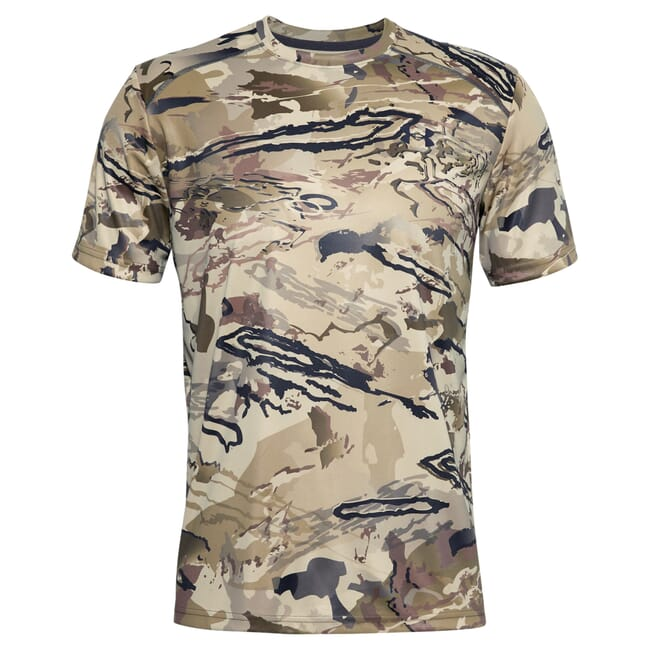 Under Armour Iso-Chill Brushline Short Sleeved T-Shirt UA Barren Camo/Black 3XL 1351143-999001