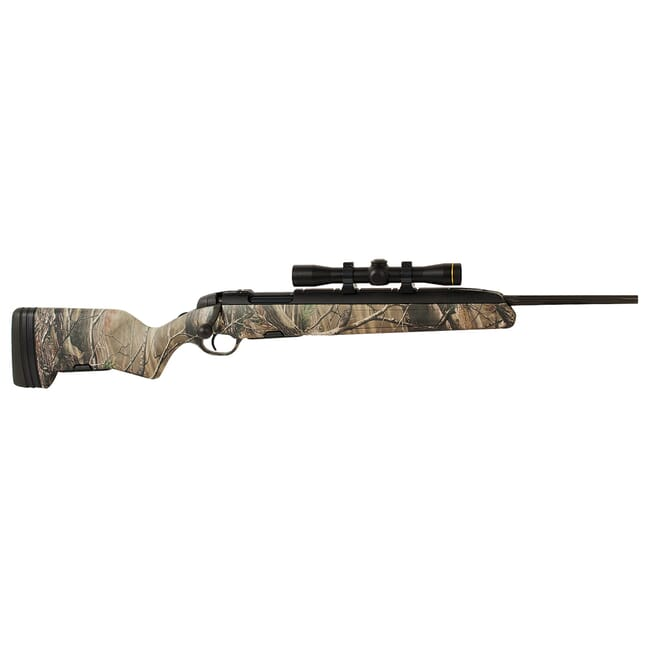 Steyr Scout 243 Win Camo w/ Leupold FXII 2.5-28. Used in great condition. UA1503