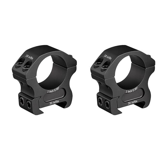 """Vortex Pro 1"""" Medium (0.95"""") Scope Rings PR1-M"""
