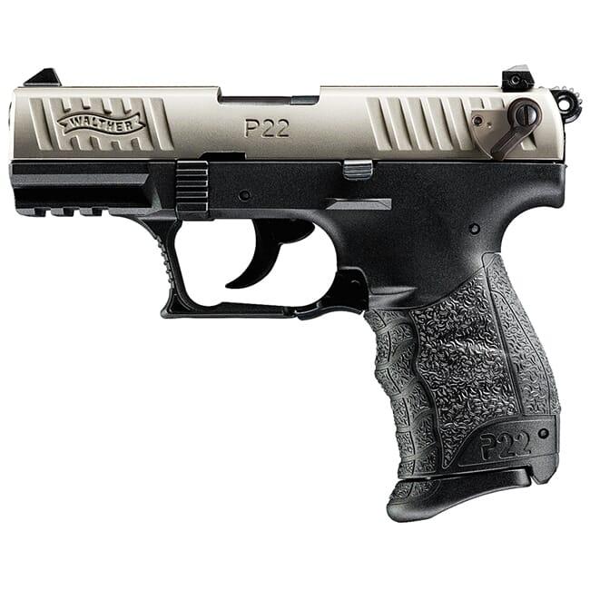 Walther P22Q .22lr Nickel 10 Round Pistol w/ 2 Magazines 5120725