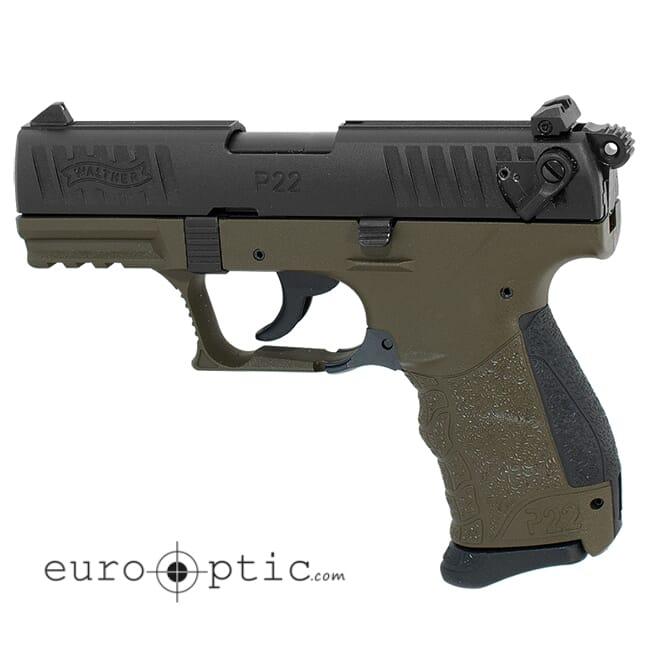 Walther P22Q .22lr Military 10 Round Pistol w/ 2 Magazines 5120715