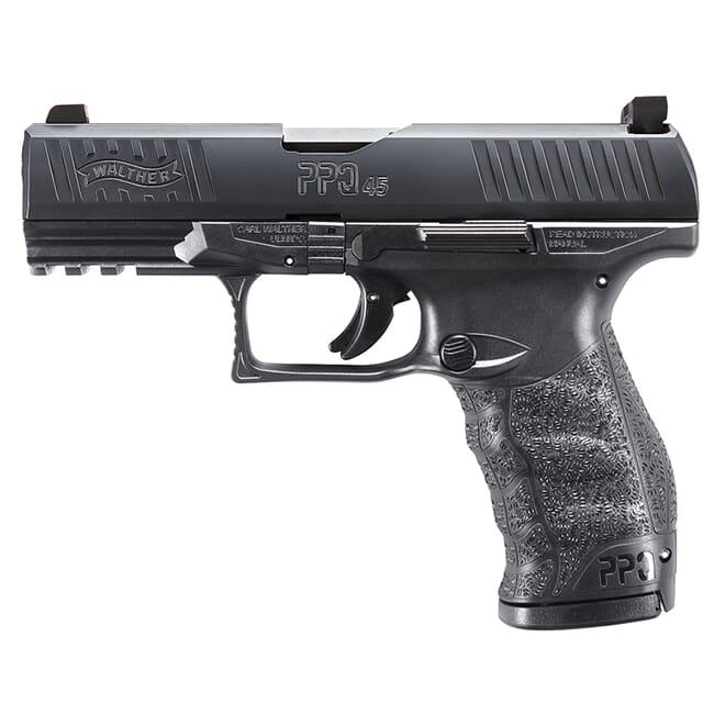 "Walther PPQ M2 .45 ACP 4.25""  Black 15 round Pistol w/ 2 Mags and XS F8 Night Sights 2807076TNS"