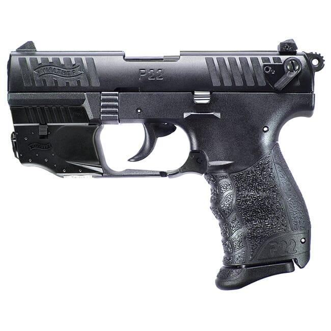 Walther P22Q .22lr Black Laser Set 10 round Pistol w/ 2 Magazines 5120729