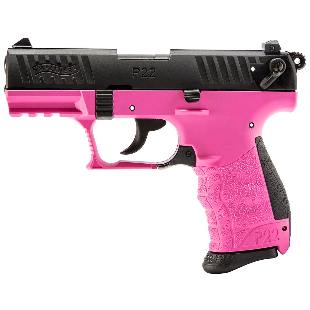 """Walther Arms P22Q .22 LR 3.42"""" Bbl RAL4003 Hot Pink Pistol w/(2) 10rd Mags 5120756"""