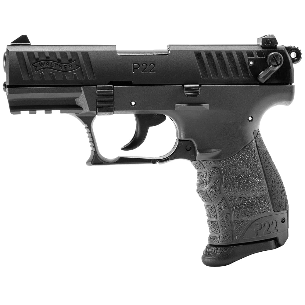 """Walther Arms P22Q .22 LR 3.42"""" Bbl Tungsten Gray Pistol w/(2) 10rd Mags 5120765"""